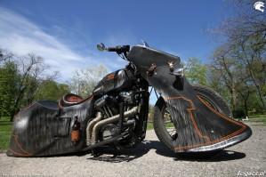 43 Harley Davidson Sportster 1200 Led Sled custom