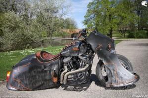 44 Harley Davidson Sportster 1200 Led Sled custom