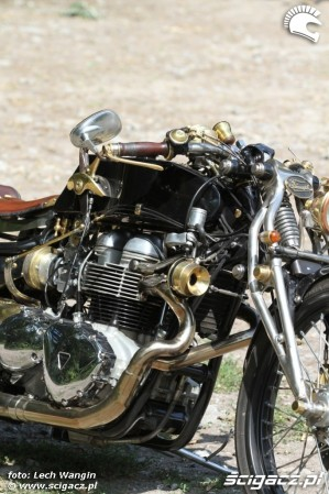 42 Triumph Bonneville America customowy dragster