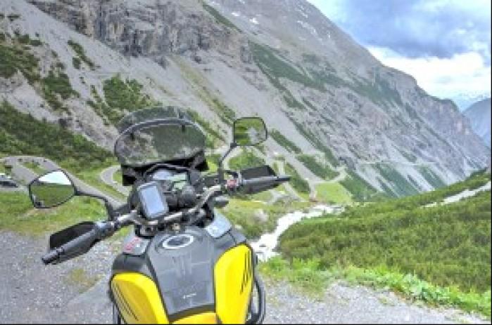 Nawigacja motocyklowa TomTom Rider 550 w akcji