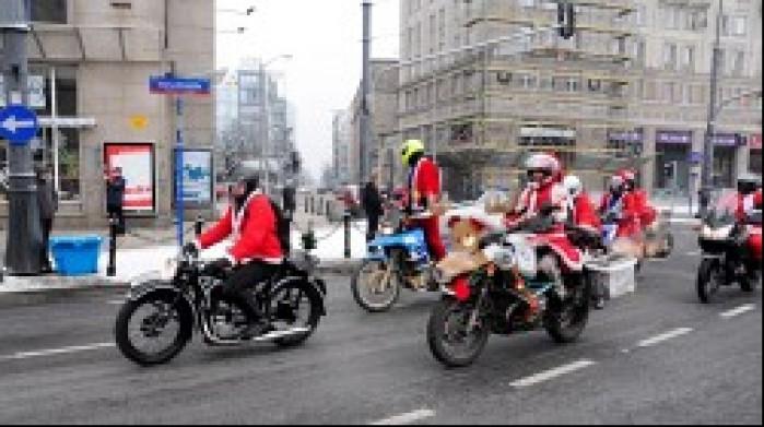 parada motomikolajow na marszalkowskiej