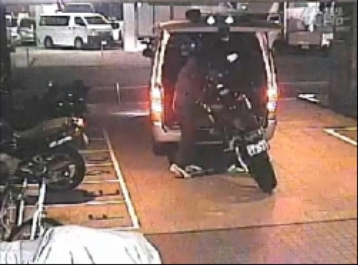kradziez motocykla z parkingu