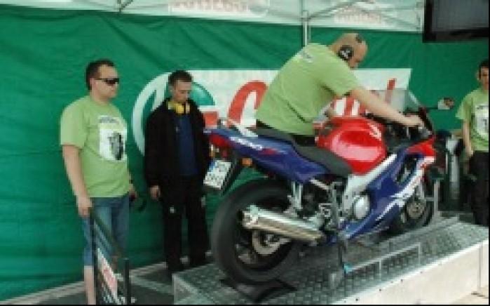 Motocyklowa niedziela BP Poznan pomiar mocy