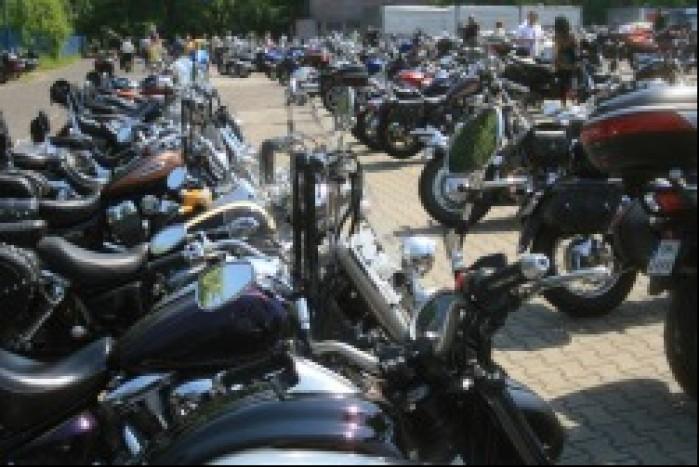 motocykle w rzedzie