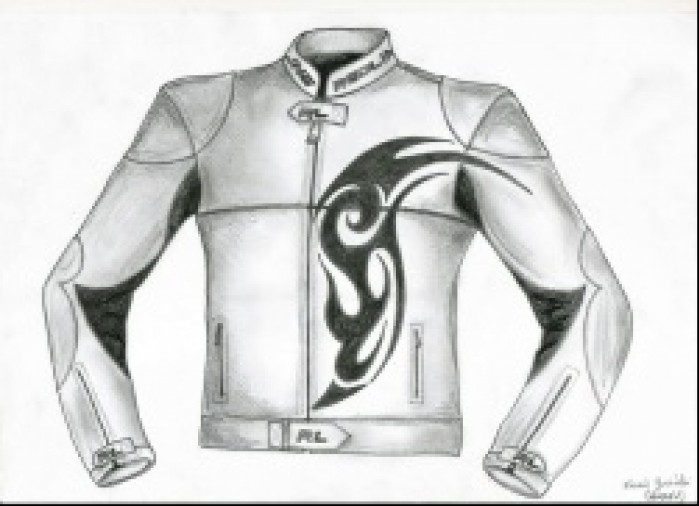 Kamil Jusinski - projekt kurtki motocyklowej - przod