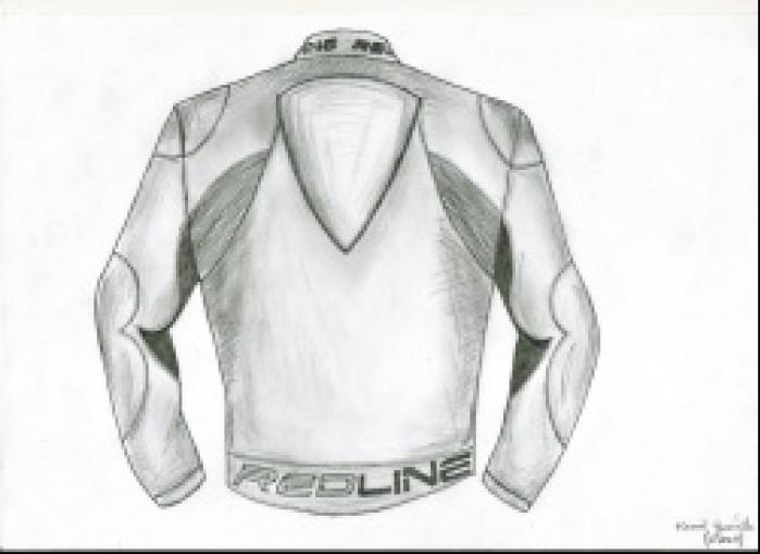Kamil Jusinski - projekt kurtki motocyklowej - tyl