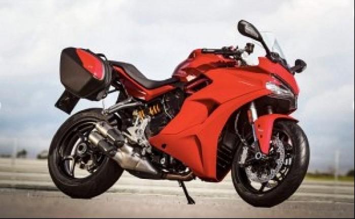 Ducati Supersport kufry czerwony