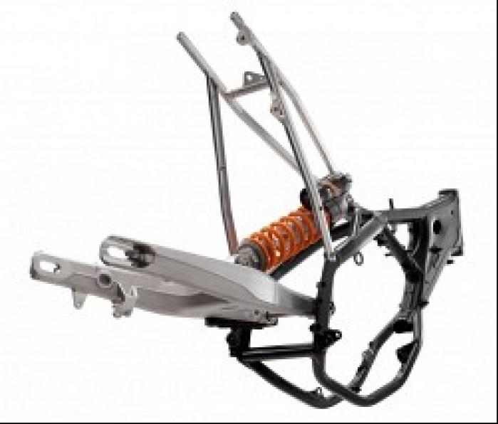 Nieskomplikowane ale szalenie zaawansowane podwozie motocykla enduro