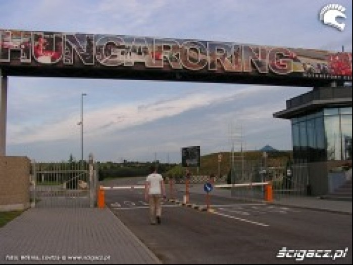 Hungaroring wjazd