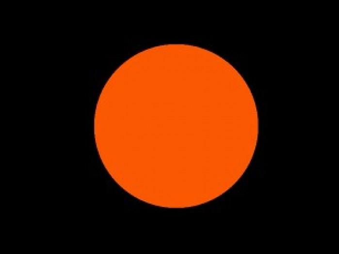 czarna flaga z pomaranczowym kolem