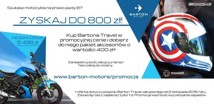 Barton promocja travel baner