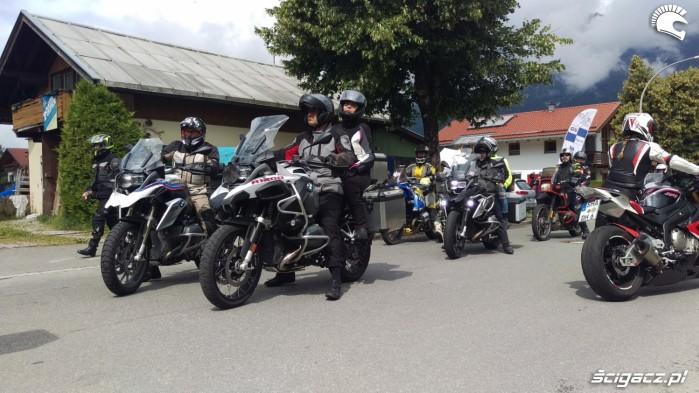 przyjazd do garmisch motocykle bmw