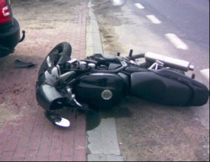 Modlinsk Wypadek motocyklisty