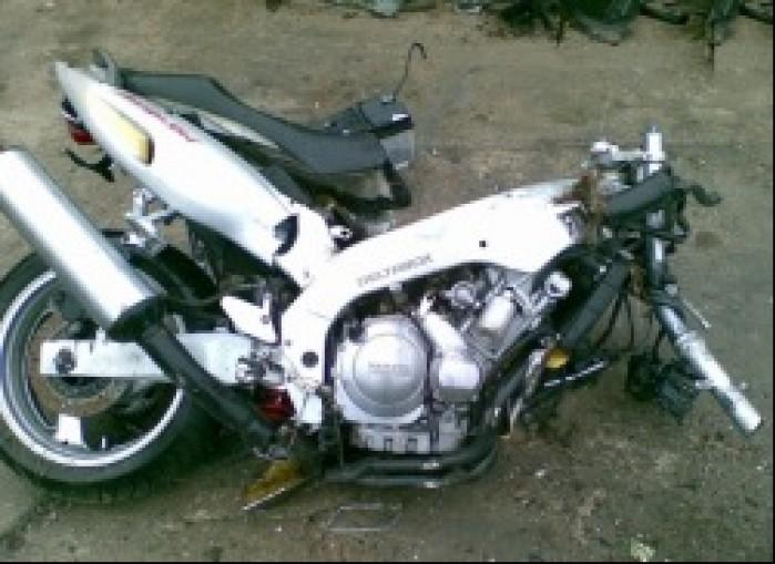 Wypadek motocyklowy Yamaha
