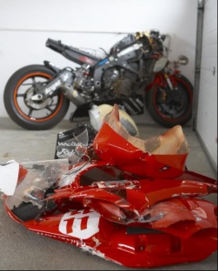 motocykl wypadek owiewki 2008 wmmp i runda t mg 0022