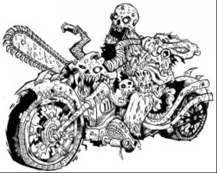 zombie motocykl