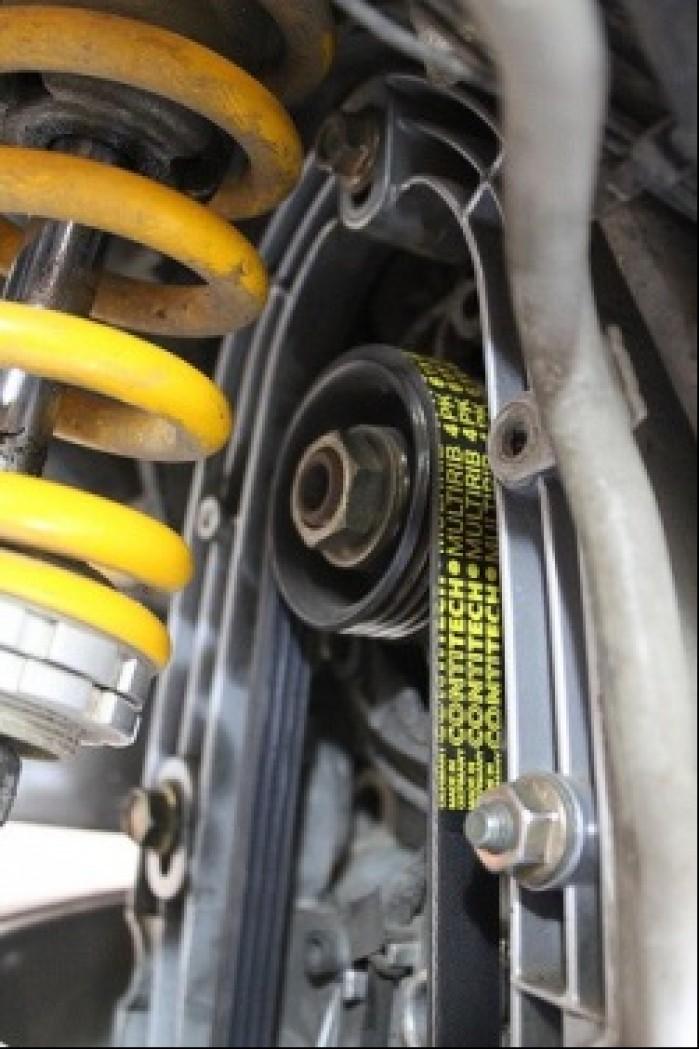 Napedzany paskiem klinowym alternator w BMW R1200GS