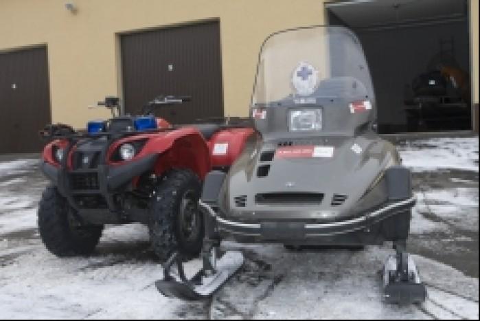 Quad i skuter sniezny GOPR