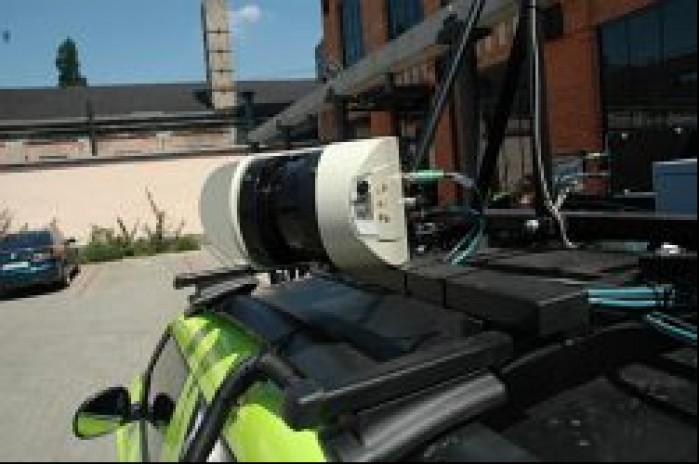 Skaner laserowy w zblizeniu