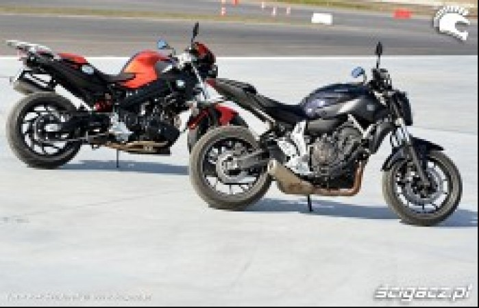 Nowe Test BMW F800R vs Yamaha MT07 2014