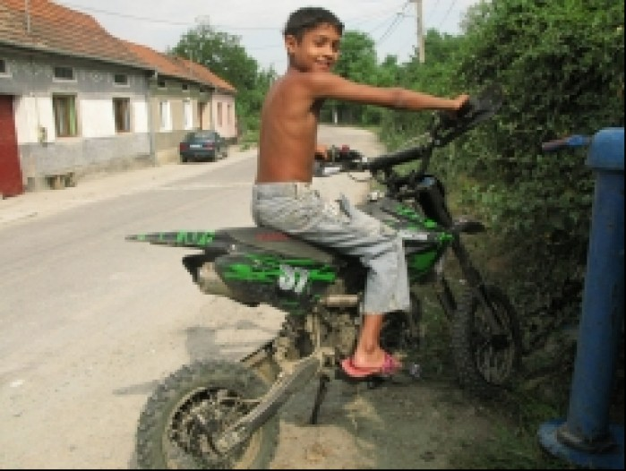 rumunia dzieciak pit bike