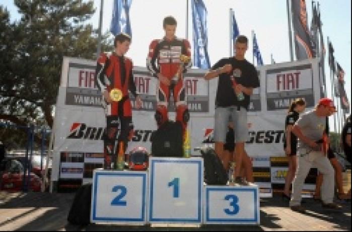 Puchar Honda CBR125R podium