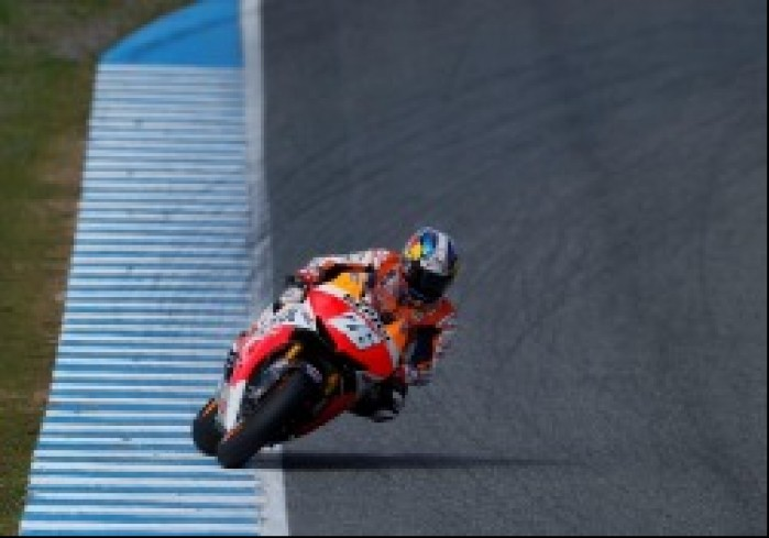 Pedrosa testy przedsezonowe MotoGP Jerez 2013 Honda