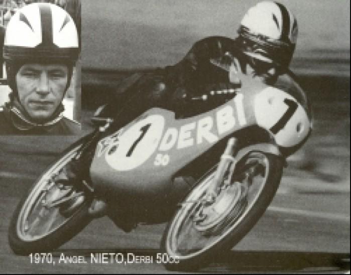 11) 1970 Derbi 50cc Angel Nieto (13 Ms w kl50 i 125 cc 9