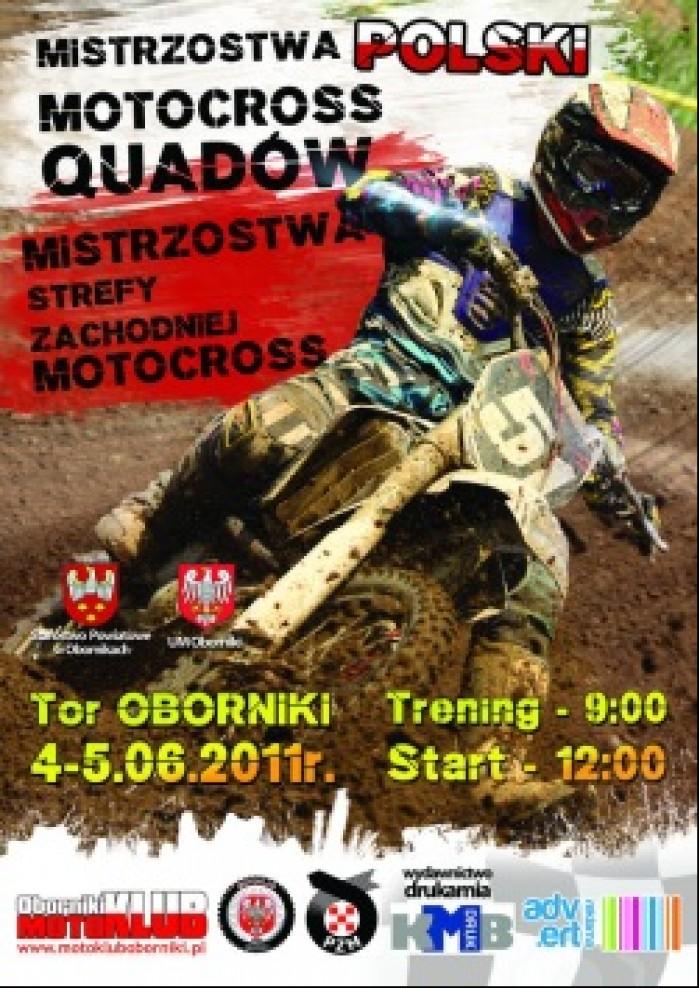 plakat motocross i quadcross Oborniki