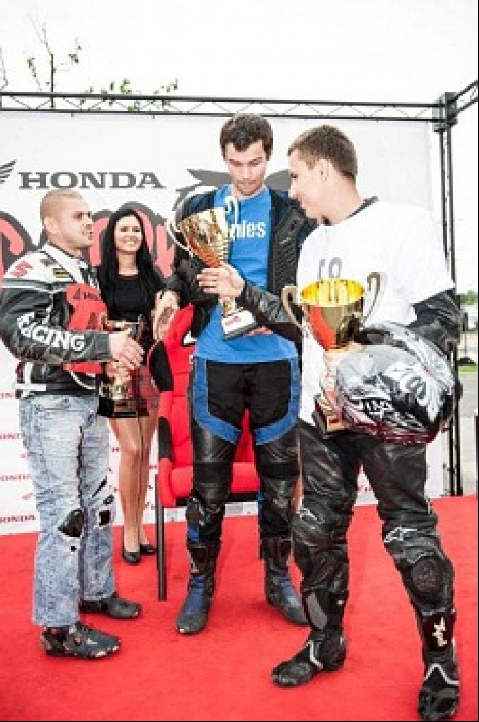 Honda Gymkhana Wroclaw podium