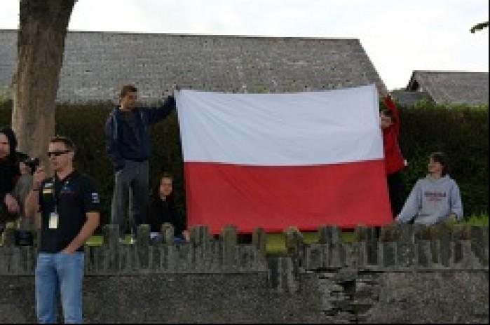 Polscy kibice na wyspie Man