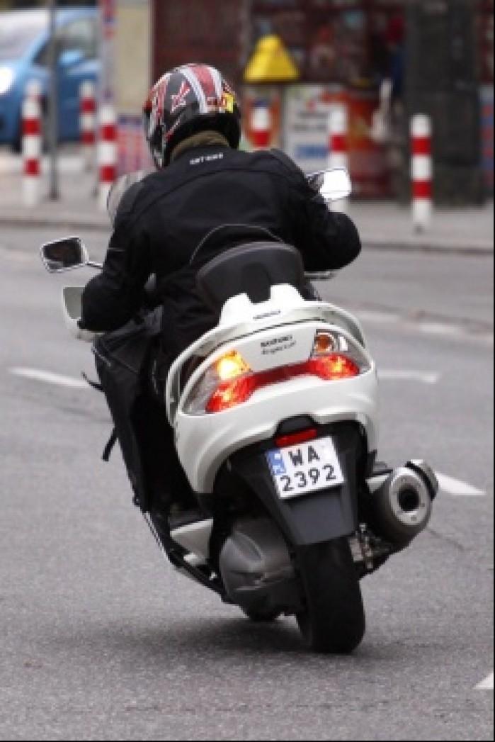 Burgman 400 Suzuki na miescie