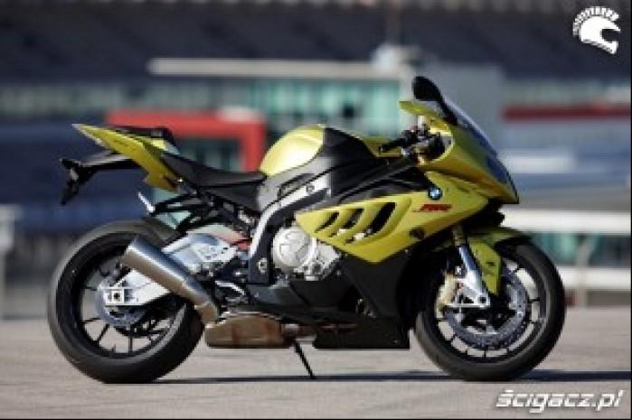 BMW S1000RR test Portimao prawy bok