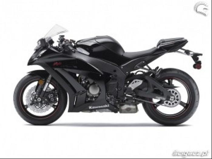 Kawasaki ZX10R czarne malowanie bok