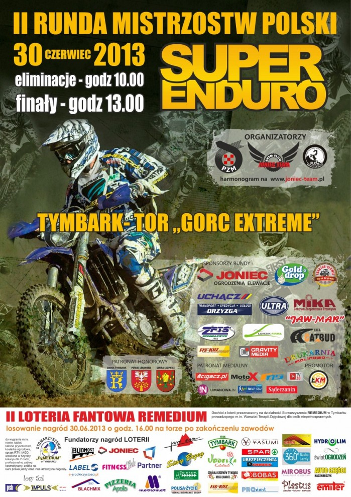 plakat MP i PP Super Enduro