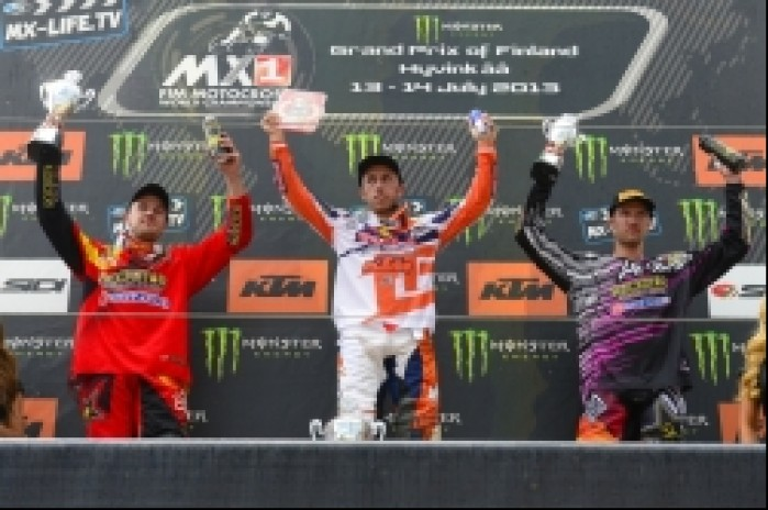 MX1 podium GP Finlandii