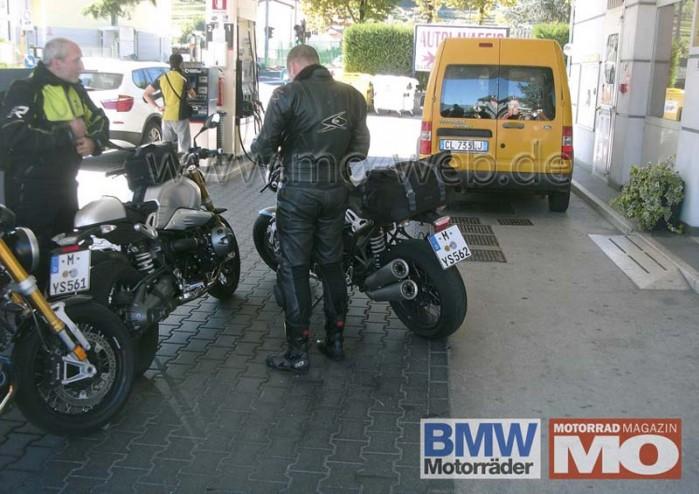 przylapane BMW NineT