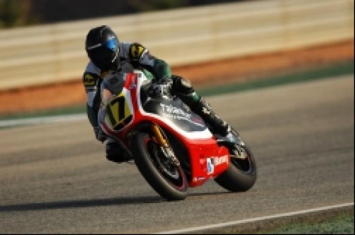 Adrian Pasek testy Moto2