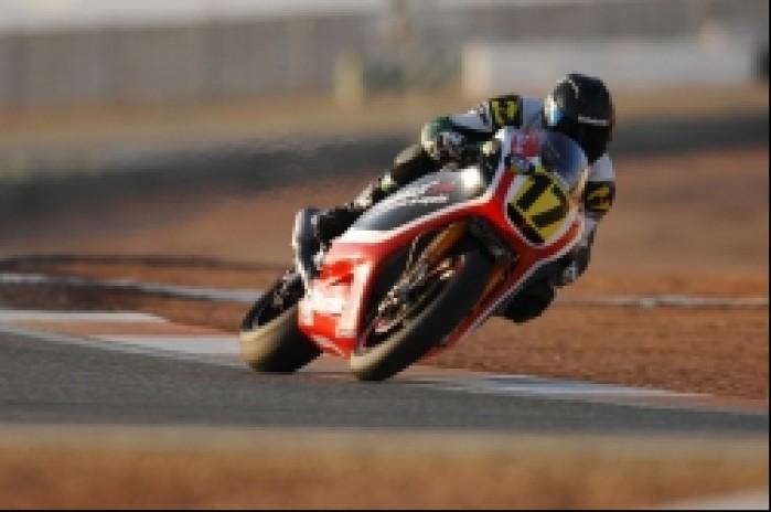 Adrian Pasek testy Moto2 w Kartagenie