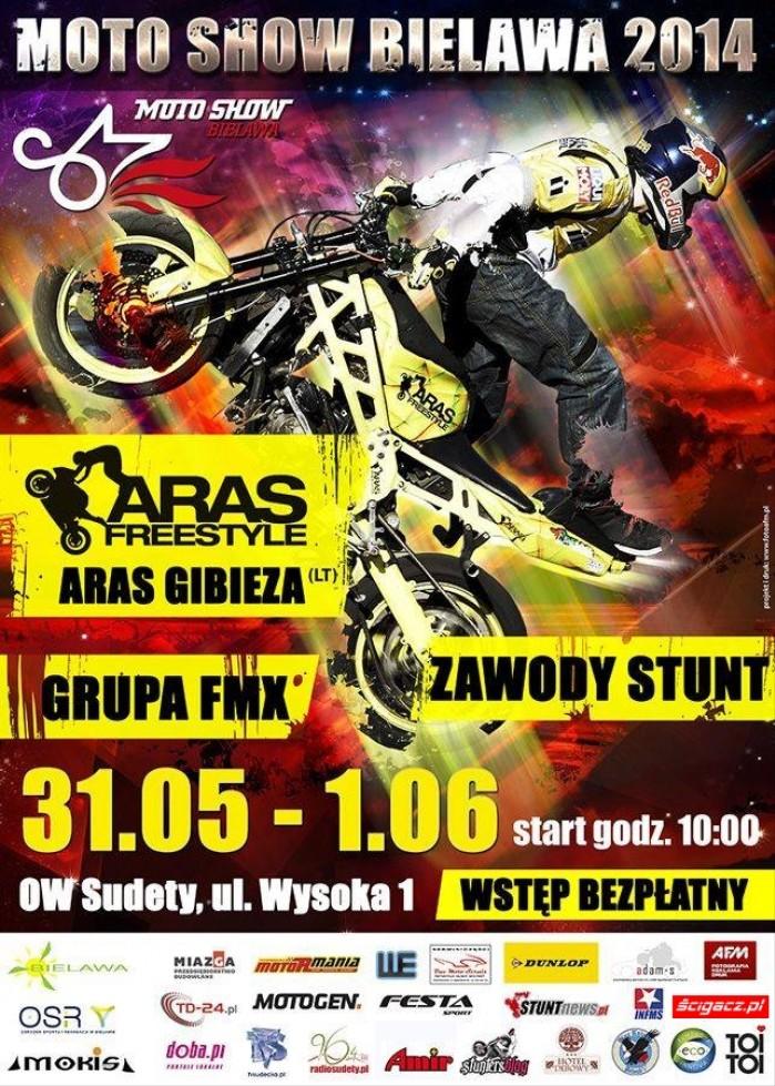 plakat Moto Show Bielawa 2014