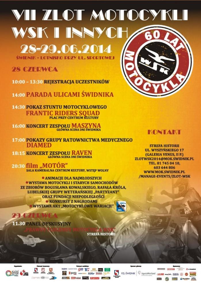 Plakat VII Ogolnopolski Zlot motocykli WSK i Innych