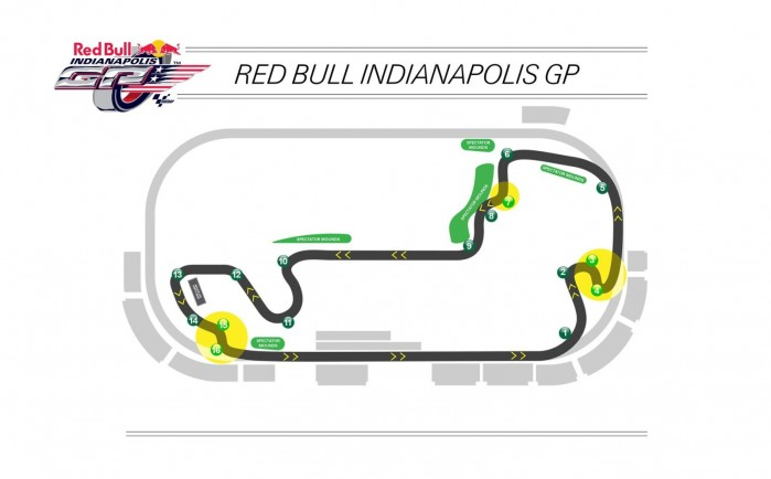 2014 indianapolis motor speedway motogp infield track map