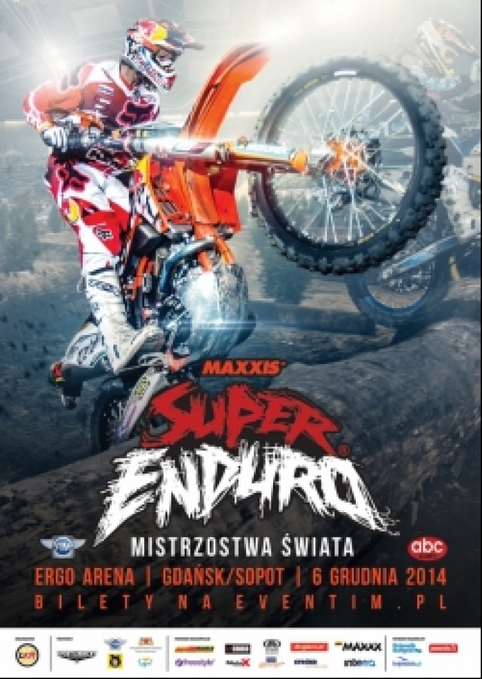 super enduro 2014 gdansk plakat