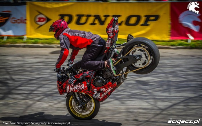 Korzen stopal Moto Show Bielawa Polish Stunt Cup 2015