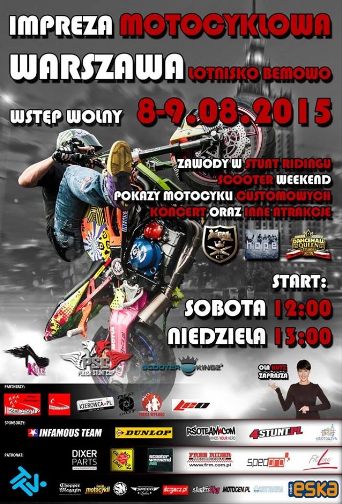 Plakat Polish Stunt Cup Warszawa 2015
