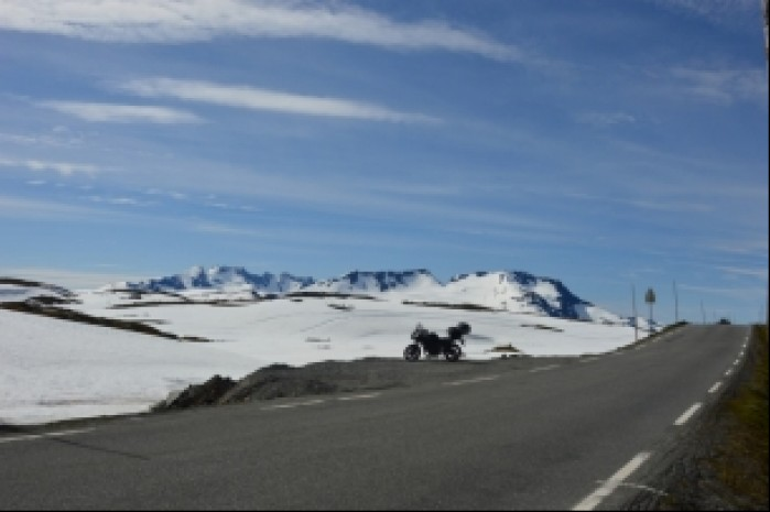 Norwegia widok przed trasa Tindevegen
