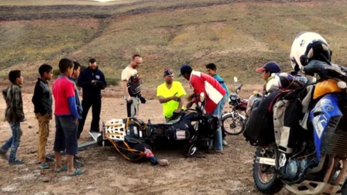 naprawa motocykla Moroccooff 2015