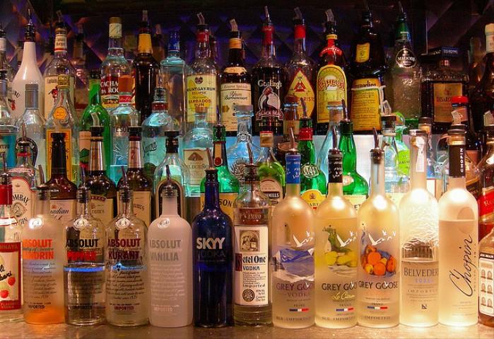 alkohol na bogato