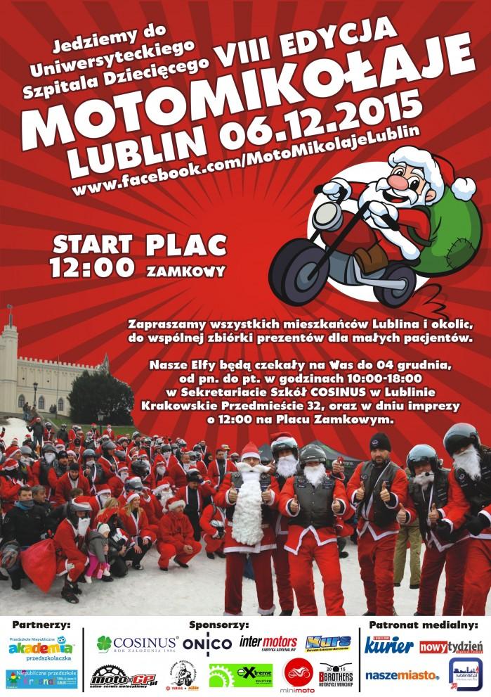 plakat MotoMikolaje Lublin 2015