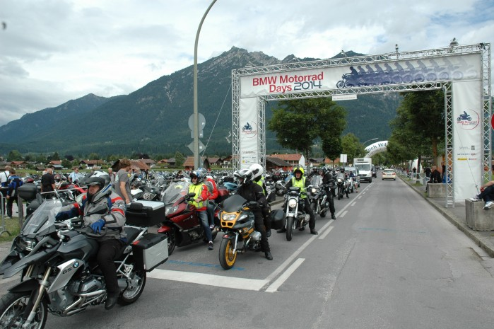 Brama wjazdowa BMW Motorrad Days Garmich Partenkirschen